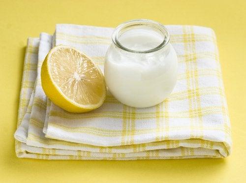 Máscara de iogurte e limão