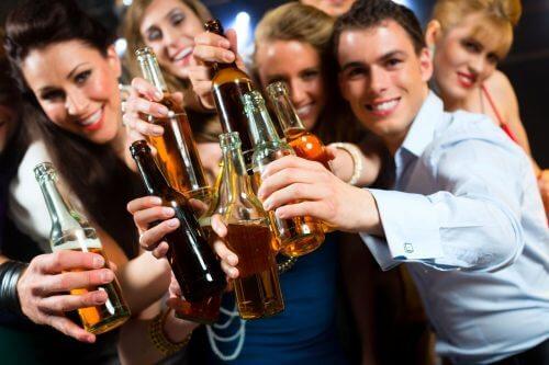 Grupo com vício no álcool