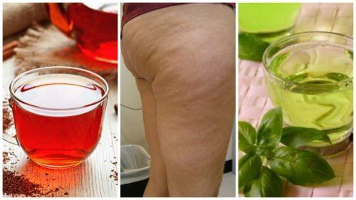 Combata a celulite com estas 6 bebidas herbais
