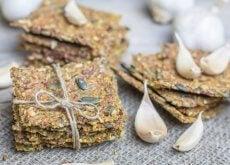 Biscoitos de sementes saudáveis sem glúten e sem lactose