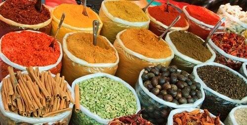 Especiarias na dieta hindu