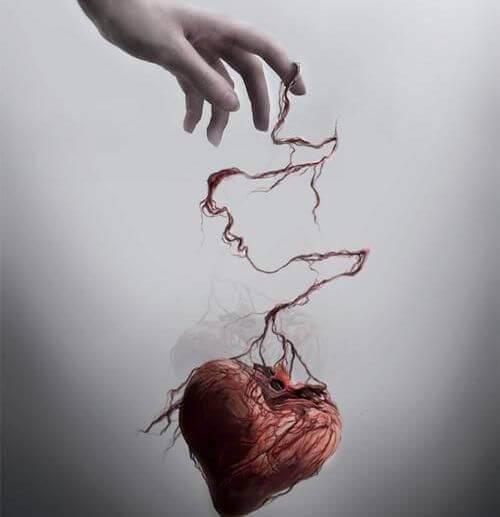 Mão com coração
