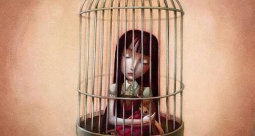 menina-presa-em-gaiola