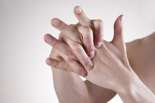 As mãos para relaxar
