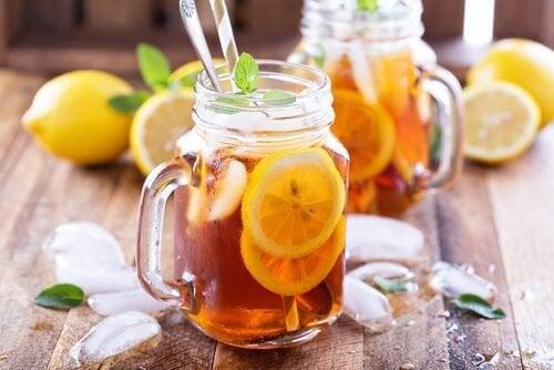 Chá gelado contra o mal-estar