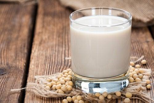 Leite de soja para aliviar as ondas de calor