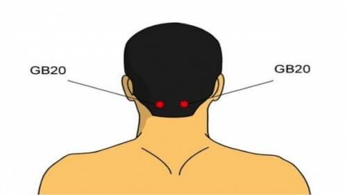 Acupressão na cabeça