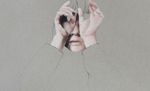 Mulher sentindo vazio emocional