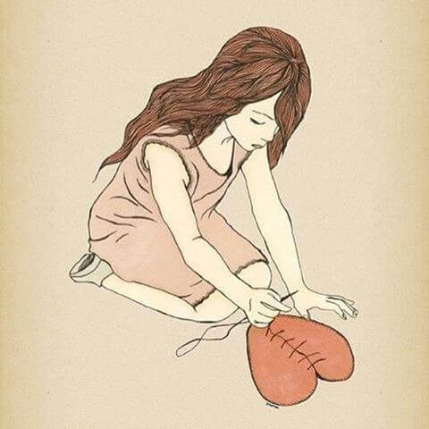 Mulher com coração valente