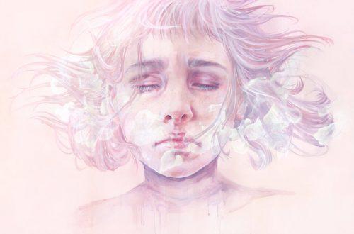 Mulher com depressão chorando