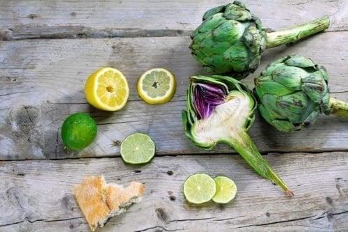 Alcachofra e limão