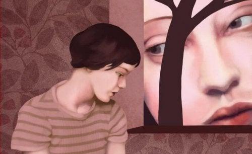 Retrato de mulher maltratada