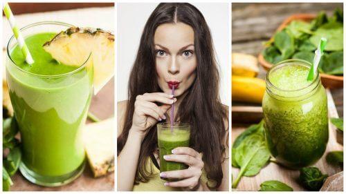 Como preparar 5 sucos verdes para depurar o corpo e perder peso