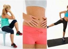 5 exercícios realizados na cadeira para reduzir gordura abdominal