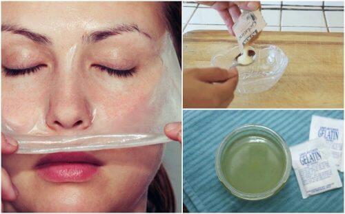 Como preparar uma máscara de gelatina e leite para remover os cravos
