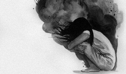Mulher não conseguindo lidar contra a ansiedade