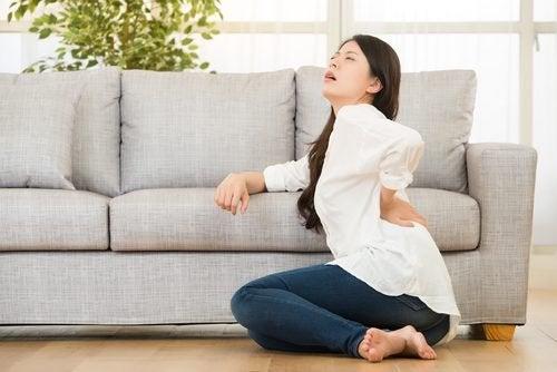 Dor lombar por causa de problemas nos rins