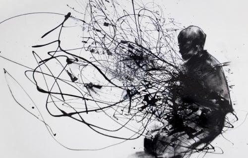 Depressão maior representada por arte abstrata