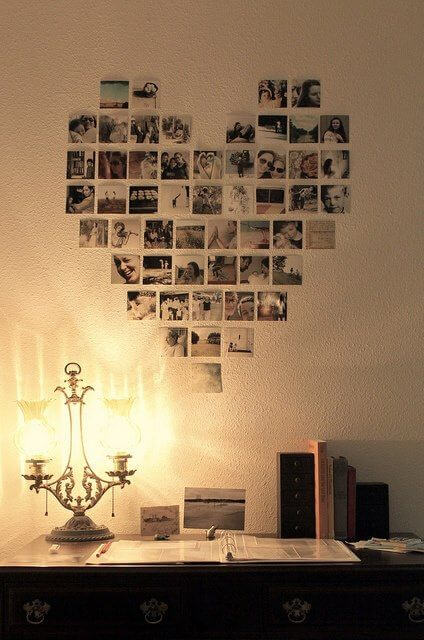 Fotografias em coração