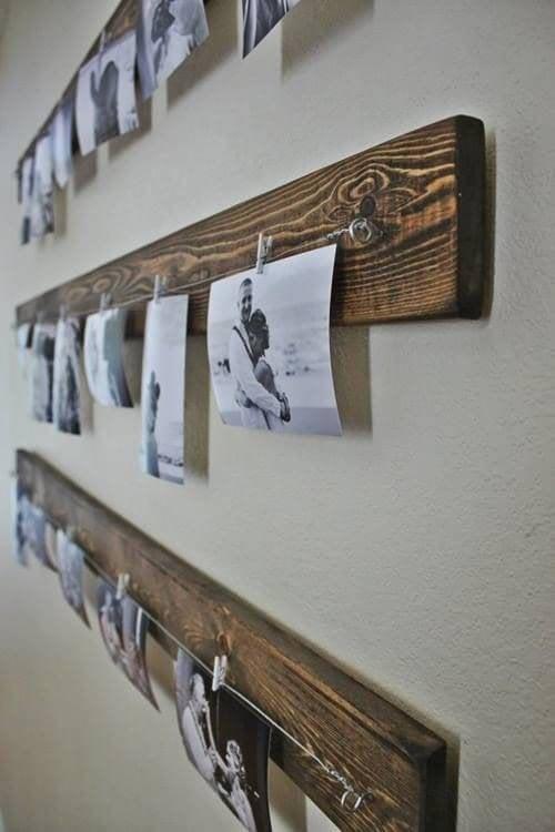 Fotografias na madeira