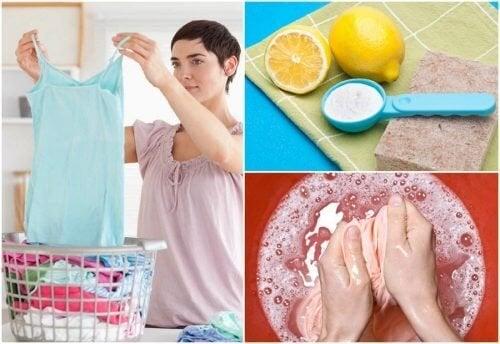 9 formas de eliminar manchas das roupas sem um produto especializado