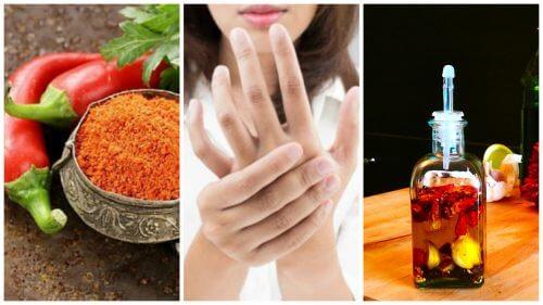 Como preparar um óleo medicinal de caiena para aliviar a dor nas articulações