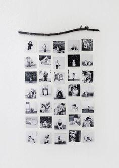 Cartaz com fotografias