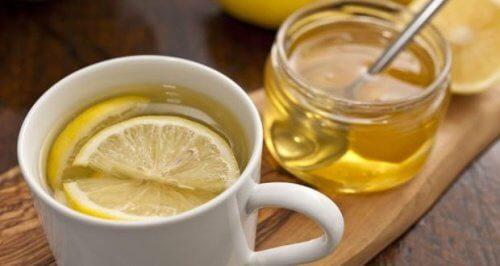 Aloé vera, mel e limão