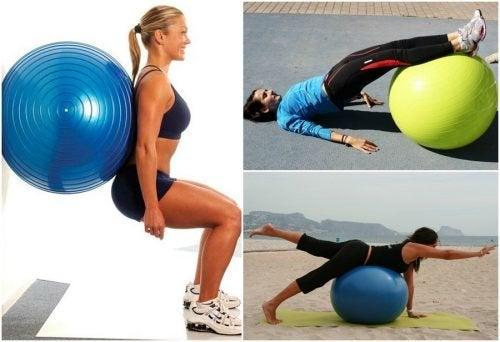 5 exercícios para os glúteos que você pode fazer com uma bola