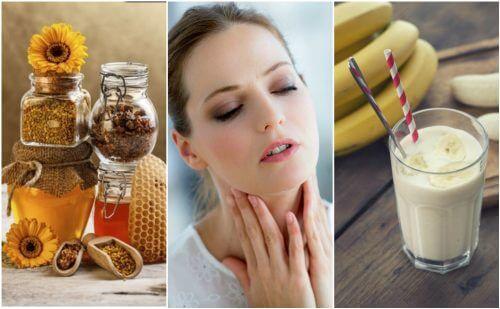 Alivie a garganta ressecada com estes 6 remédios naturais