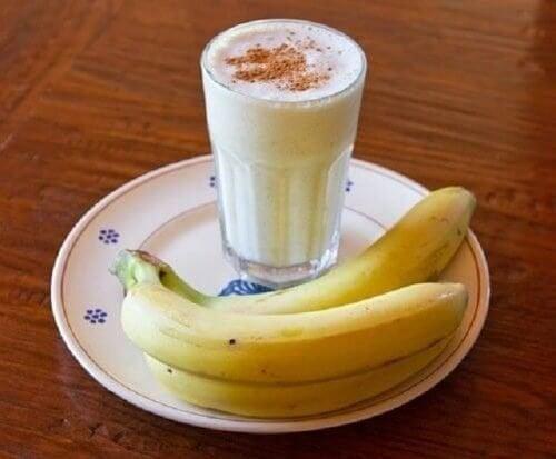 Vitamina de banan para combater a insônia de forma natural