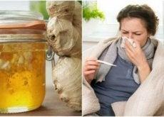 Xarope caseiro de mel e gengibre para combater o resfriado