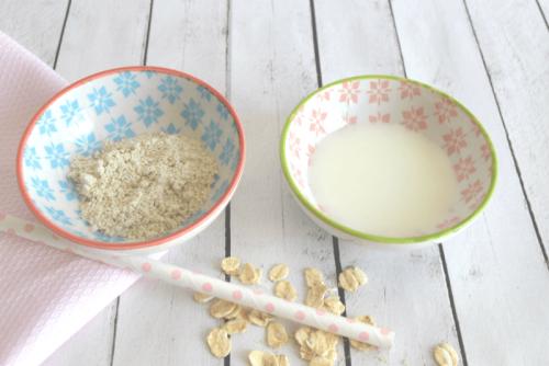 Esfoliante de aveia e soro de leite
