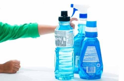 Não deveria reutilizar as garrafas de plástico a menos que coloque produtos quimicos