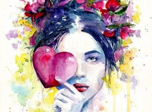 Mulher com coração