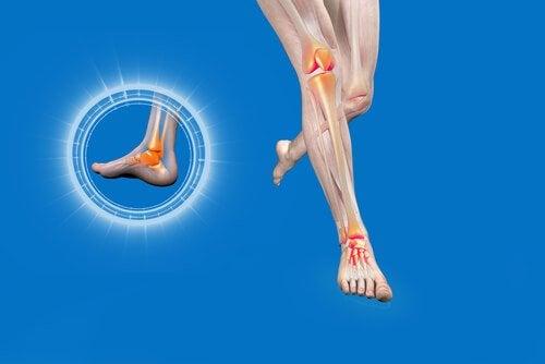 Desenho de torção no tornozelo