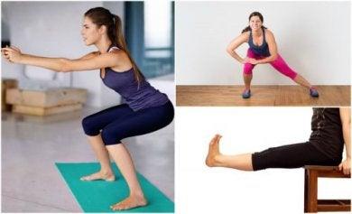 Exercícios para as pernas para fazer em casa