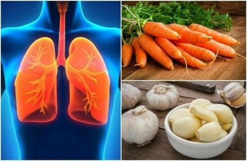 7 alimentos para melhorar a saúde pulmonar