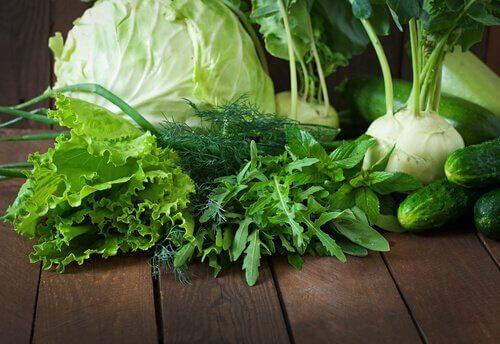 Depure-se uma vez por semana com verduras
