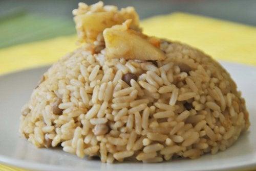 Lentilhas e arroz para perder peso