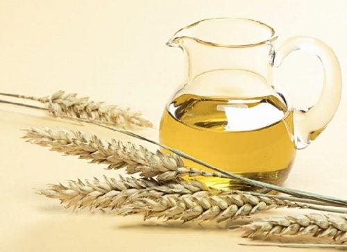 Tratamento de gérmen de trigo para as unhas