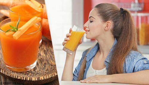 5 simples vitaminas com cenoura para depurar o organismo