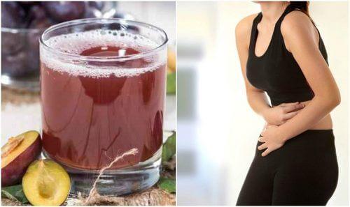 Como aliviar a prisão de ventre com uma vitamina de ameixa, funcho e sementes de linhaça