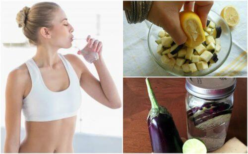 Como preparar água de berinjela e limão para perder peso?