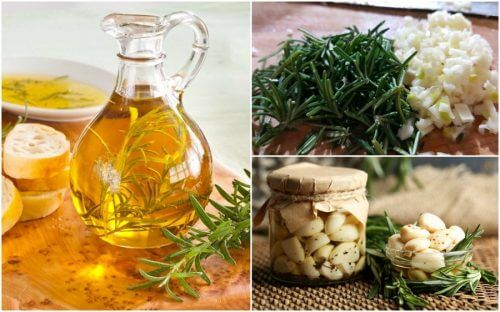Como preparar um óleo aromatizado de alecrim e alho