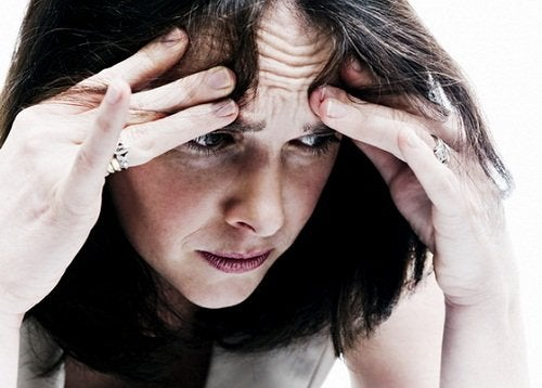 Mulher com mal-estar