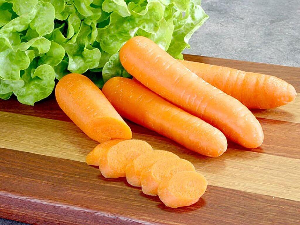 A cenoura contém potássio