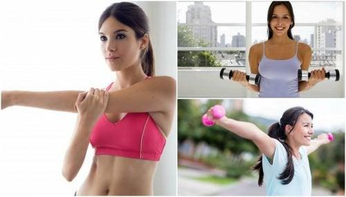 Firmar os seios de forma natural com 5 exercícios fáceis