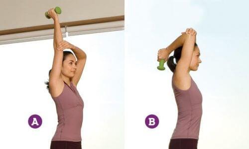 Extensão do tríceps para reduzir a flacidez de seus braços
