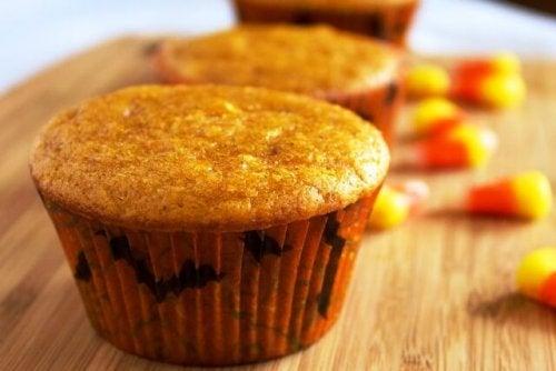 Receita de muffin de abóbora